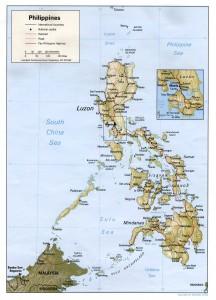 Landkarte Philippinen